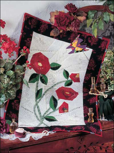 Log Cabin Crazy Flowers Free Wall Quilt Pattern