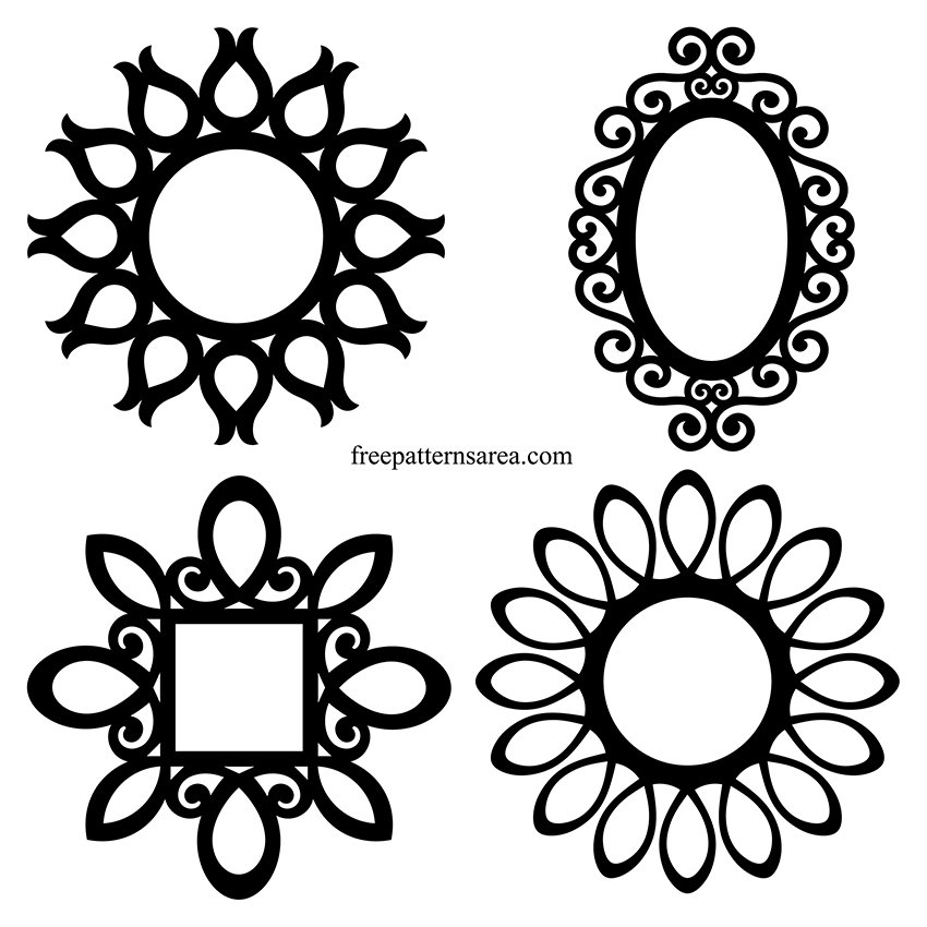 Round Wall Frame CNC Cut Ready Template Files