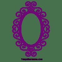 Embellished Silhouette Ornate Oval Frame Design ...