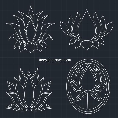 Lotus Symbol Vector FreePatternsArea