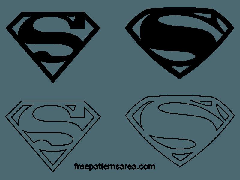 superman symbol logo vectors