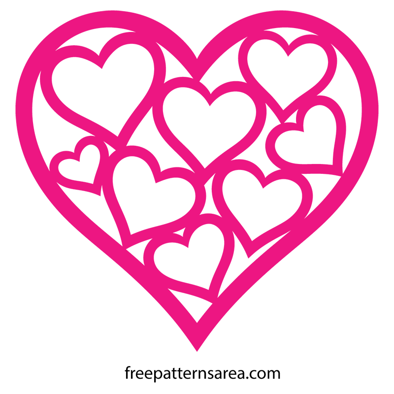 Download Heart Shaped Vector & Template for Valentines Day