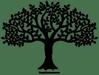 Black Tree Silhouette Vector Art | FreePatternsArea