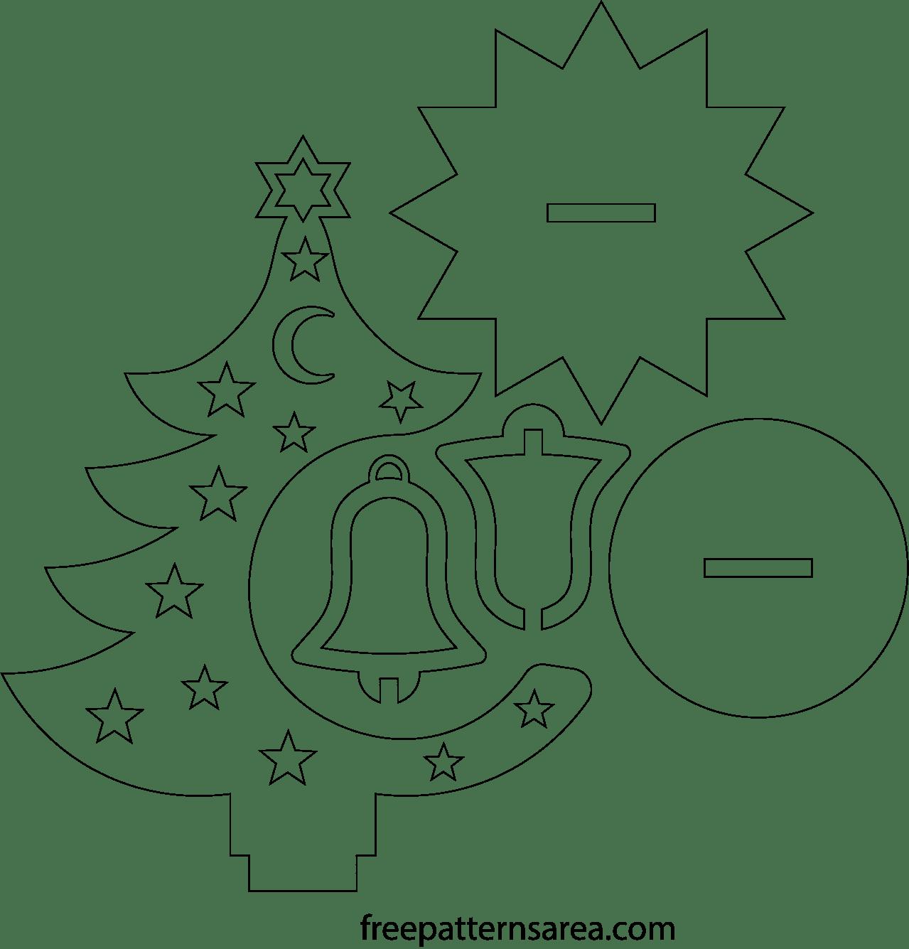 Laser Cut Ornament Wooden Christmas Tree Idea