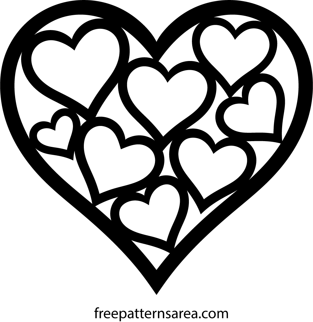 Heart Shaped Vector Amp Template For Valentines Day