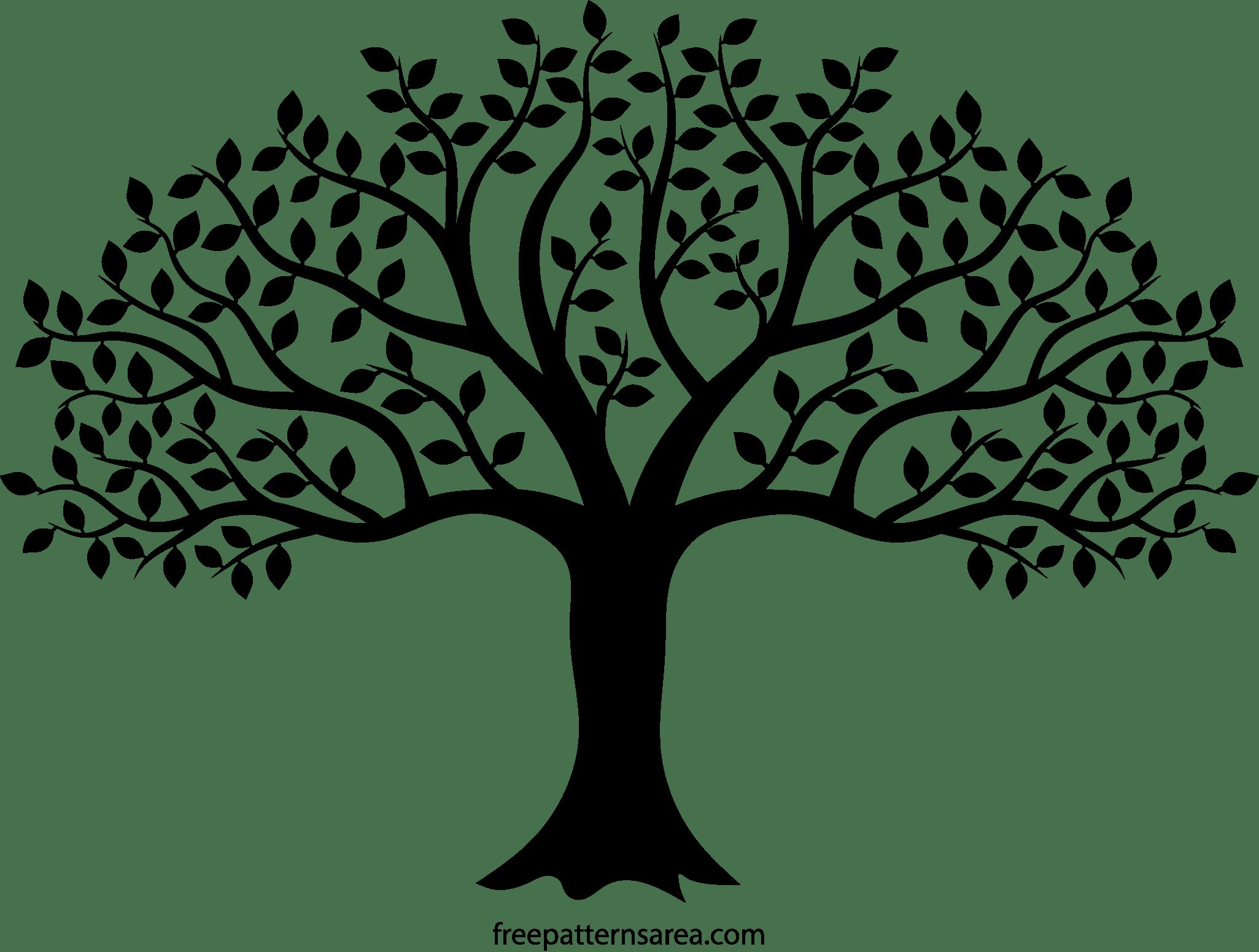 Black Tree Silhouette Vector Art