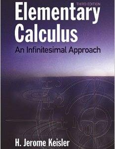 Elementary Calculus by H. Jerome Keisler pdf, Elementary Calculus pdf, Elementary Calculus H. Jerome Keisler pdf