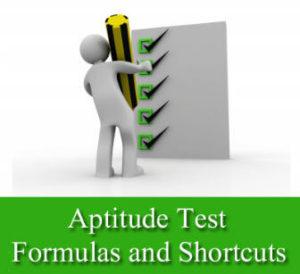 aptitude-questions-formulas