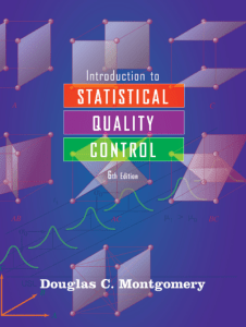 Introduction to Statistical Quality Control by Montgomery