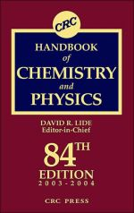 CRC Handbook of Chemistry and Physics 84th Edition by David R. Lide