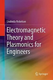 Electromagnetic Theory and Plasmonics for Engineers Book Pdf Free Download