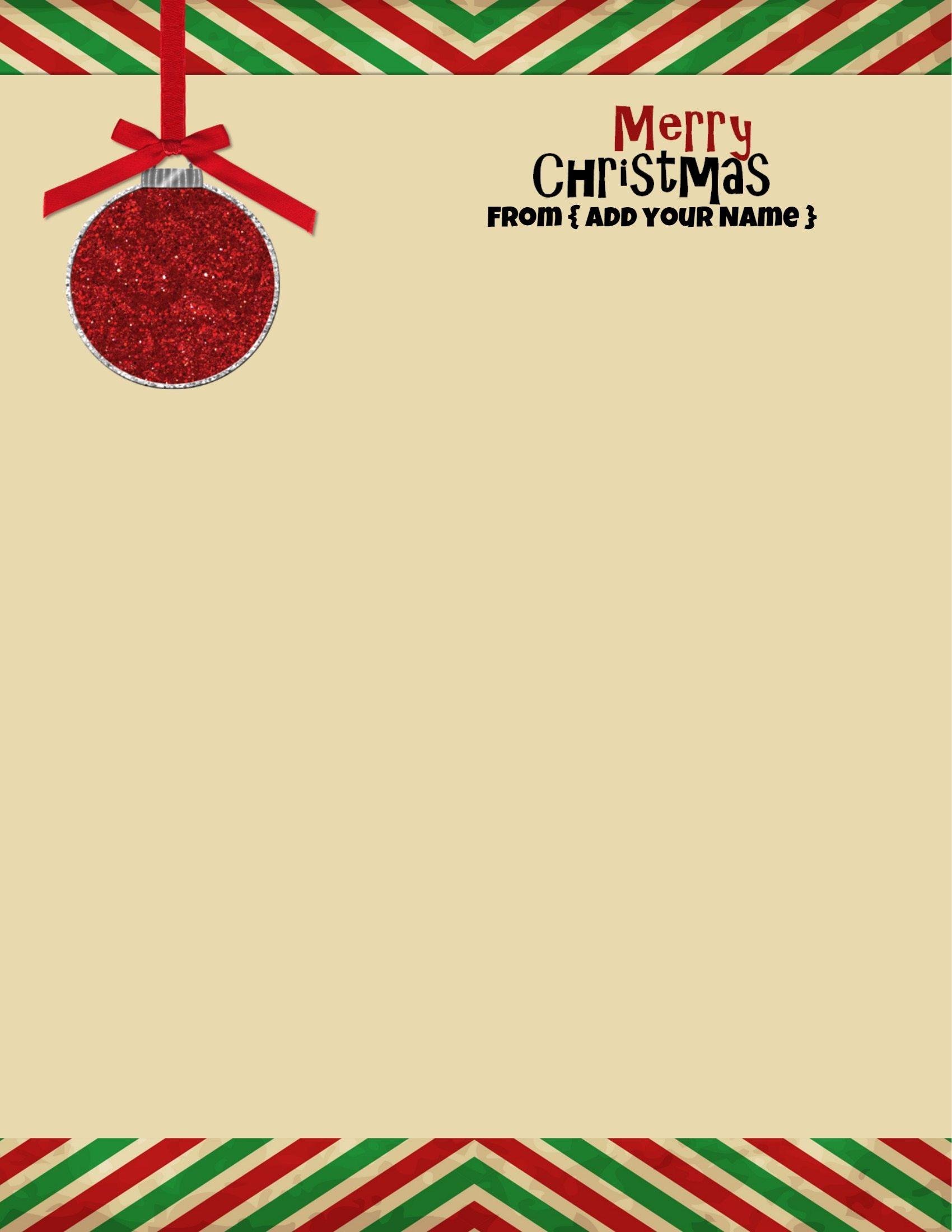 free christmas stationary
