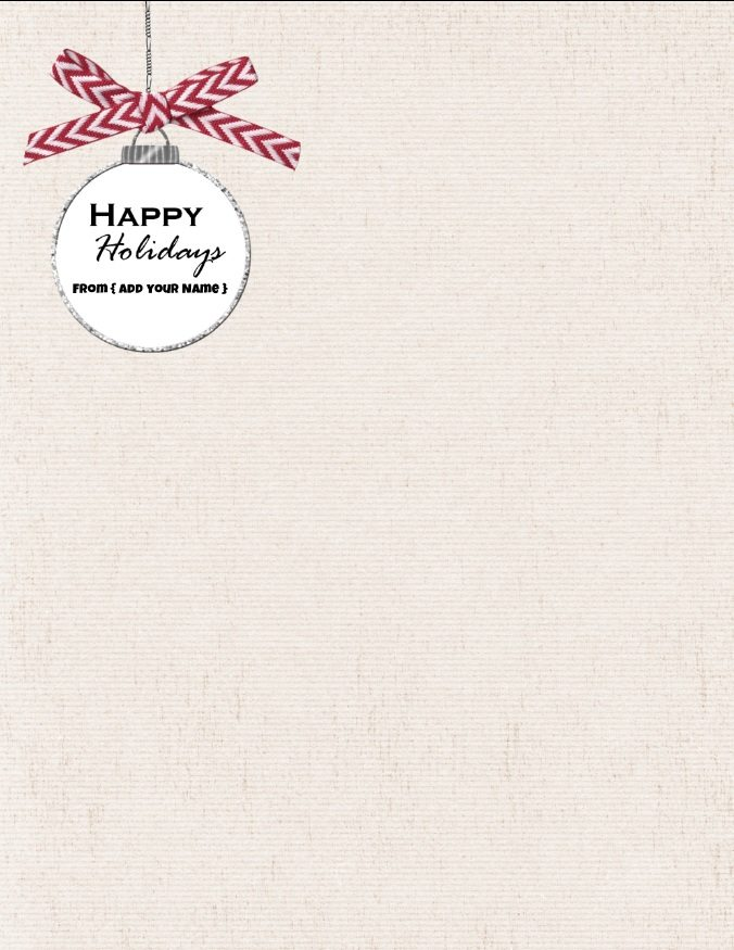 christmas stationary templates