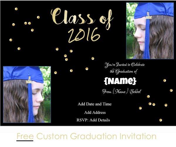 printable graduation party invitations free