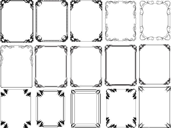 Free Photoshop Vintage Frames Brushes, Shapes, PNG, Pictures and Vectors