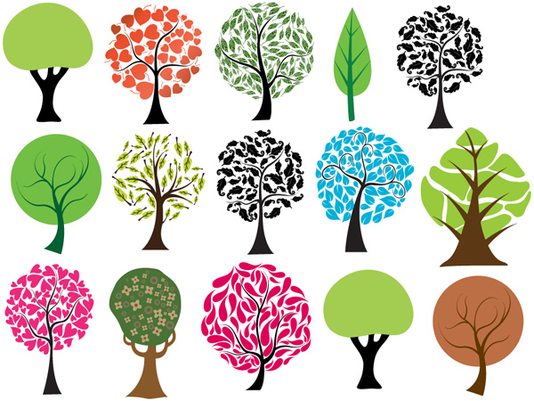 Trees Vectors, Brushes, PNG, Pictures and Shapes