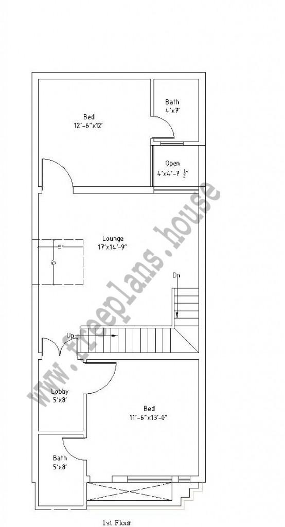 12×45 Feet /50 Square Meter House Plan