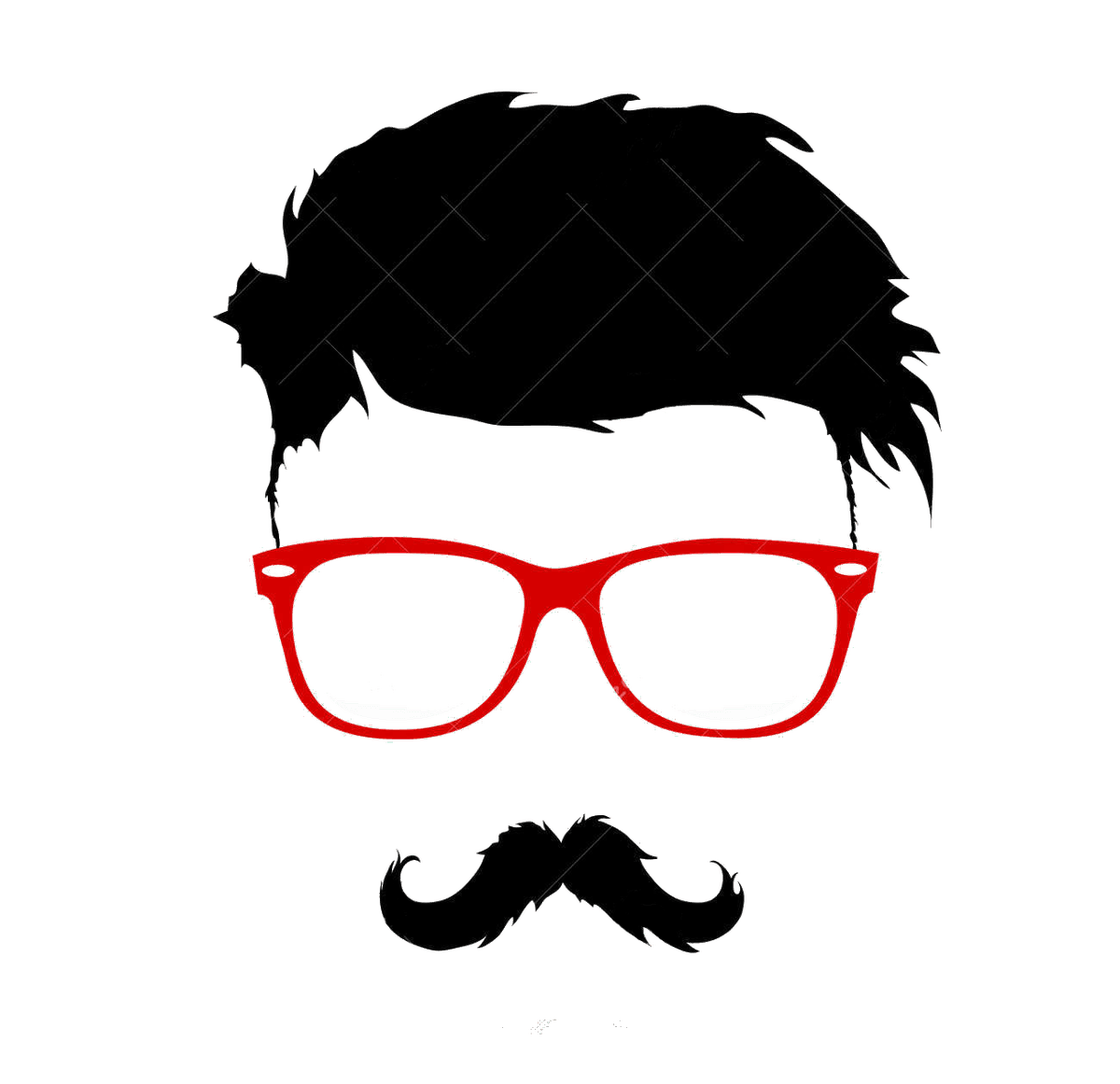 hight resolution of hairstyle vector bun graphics moustache beard clipart