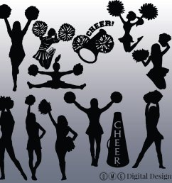 cheerleading silhouette png image clipart [ 1500 x 1500 Pixel ]