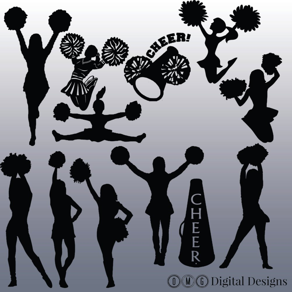 medium resolution of cheerleading silhouette png image clipart