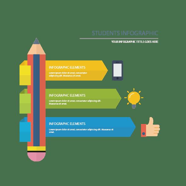 download infographic pen vector
