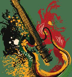 art electric poster guitar vector grunge clipart [ 1694 x 2176 Pixel ]