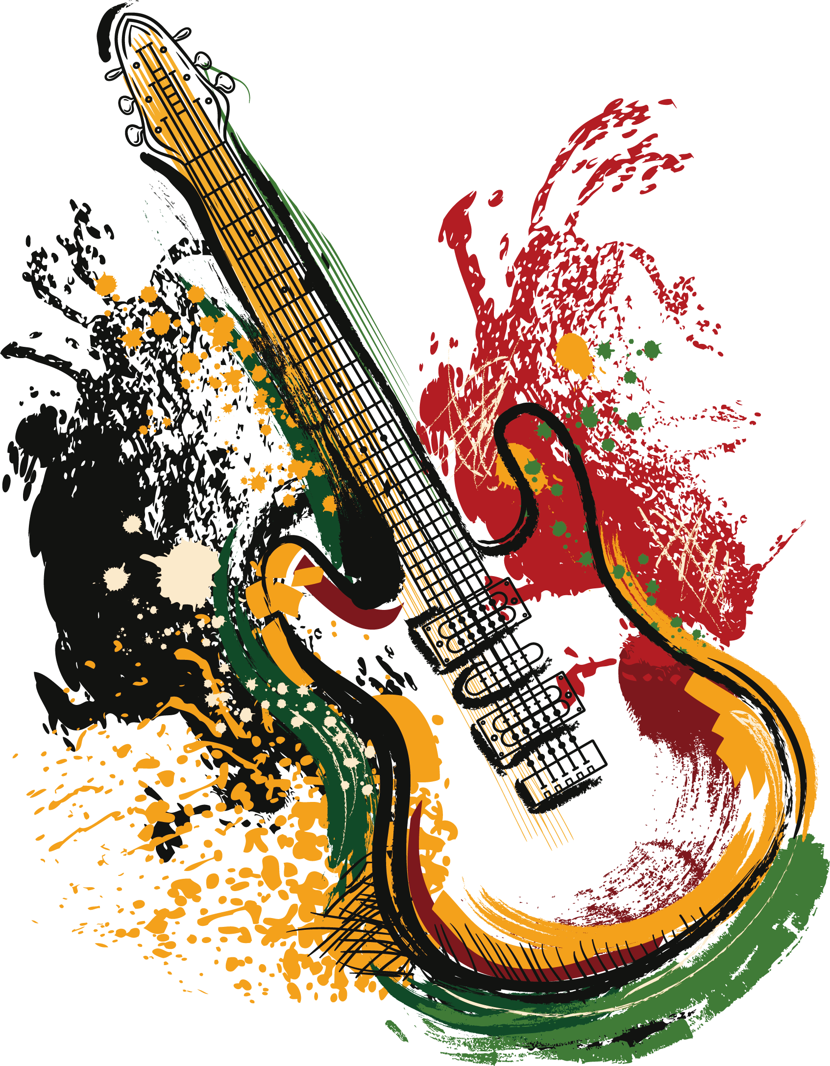 hight resolution of art electric poster guitar vector grunge clipart