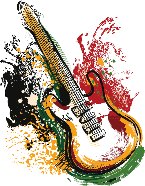 small resolution of art electric poster guitar vector grunge clipart