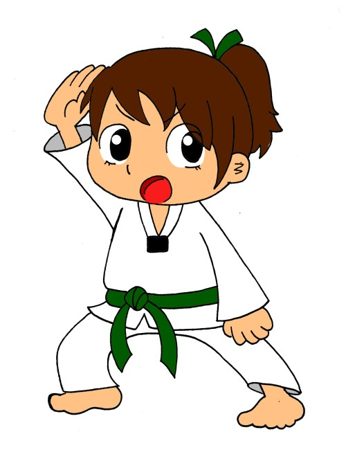 small resolution of download clipart karate cartoon kid clipart 201