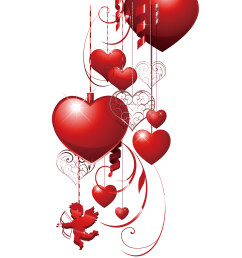 decorative heart love pattern valentines scalable cupid clipart [ 3543 x 5315 Pixel ]