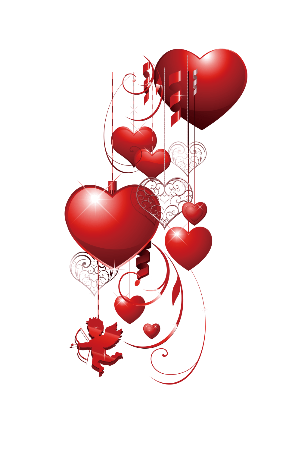 medium resolution of decorative heart love pattern valentines scalable cupid clipart