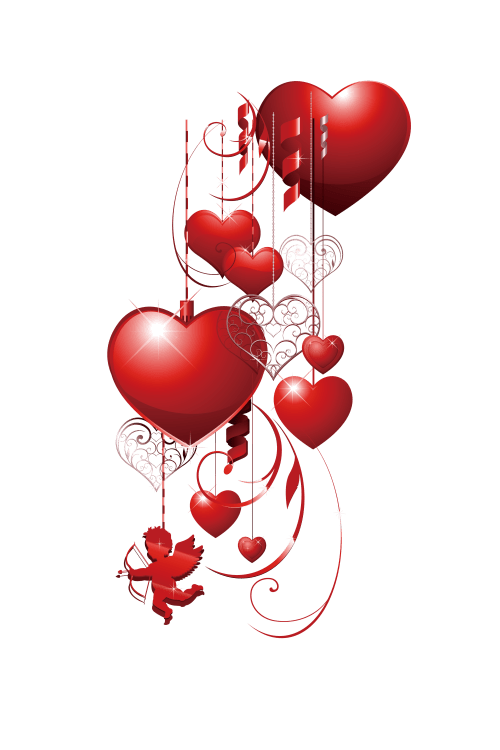 small resolution of decorative heart love pattern valentines scalable cupid clipart