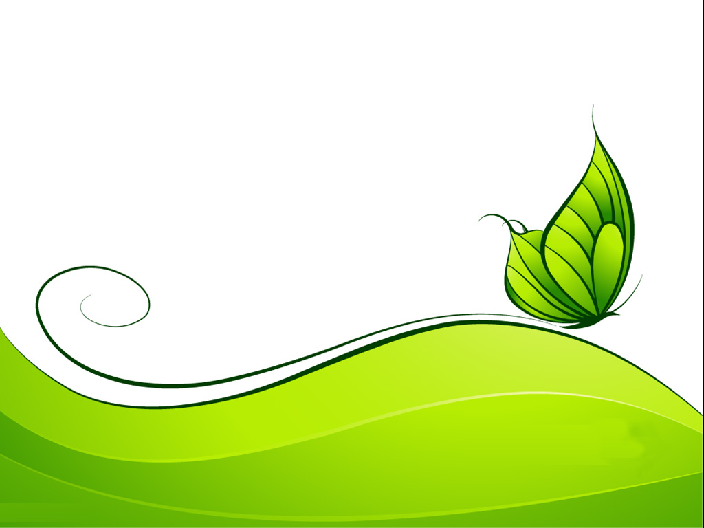 Green Abstract Design With Butterfly Template ?
