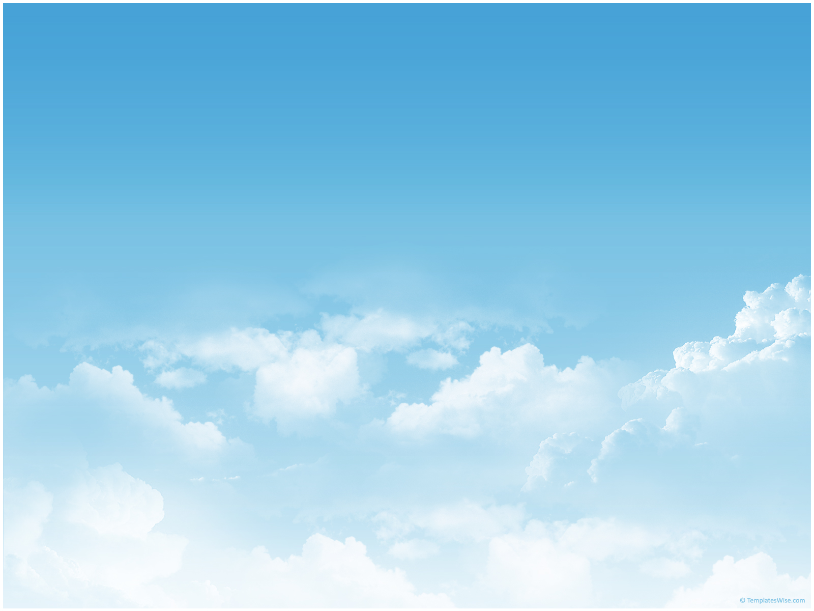 sky clouds ppt template 171 ppt backgrounds templates