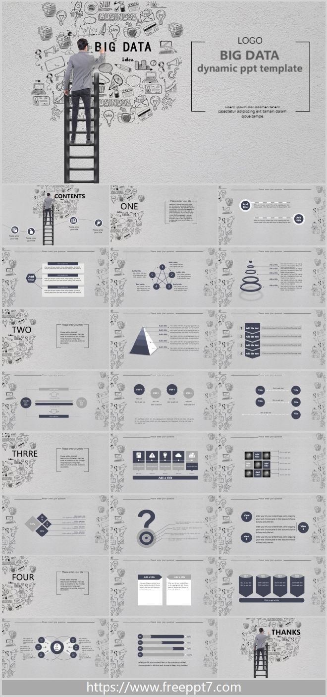 Hand drawn big data dynamic PPT templates_Best PowerPoint