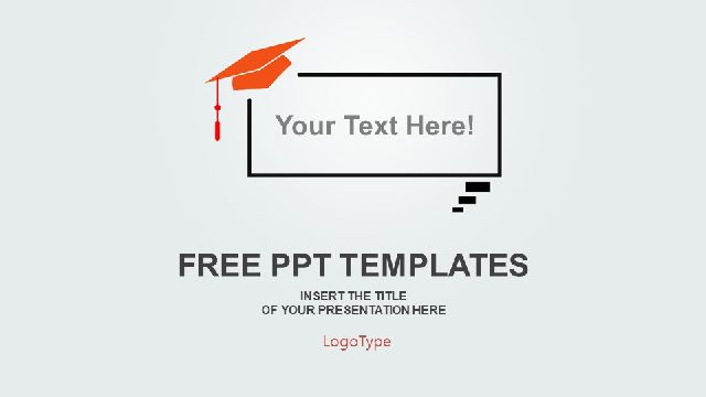Graduation Cap Background PowerPoint Templates_Best