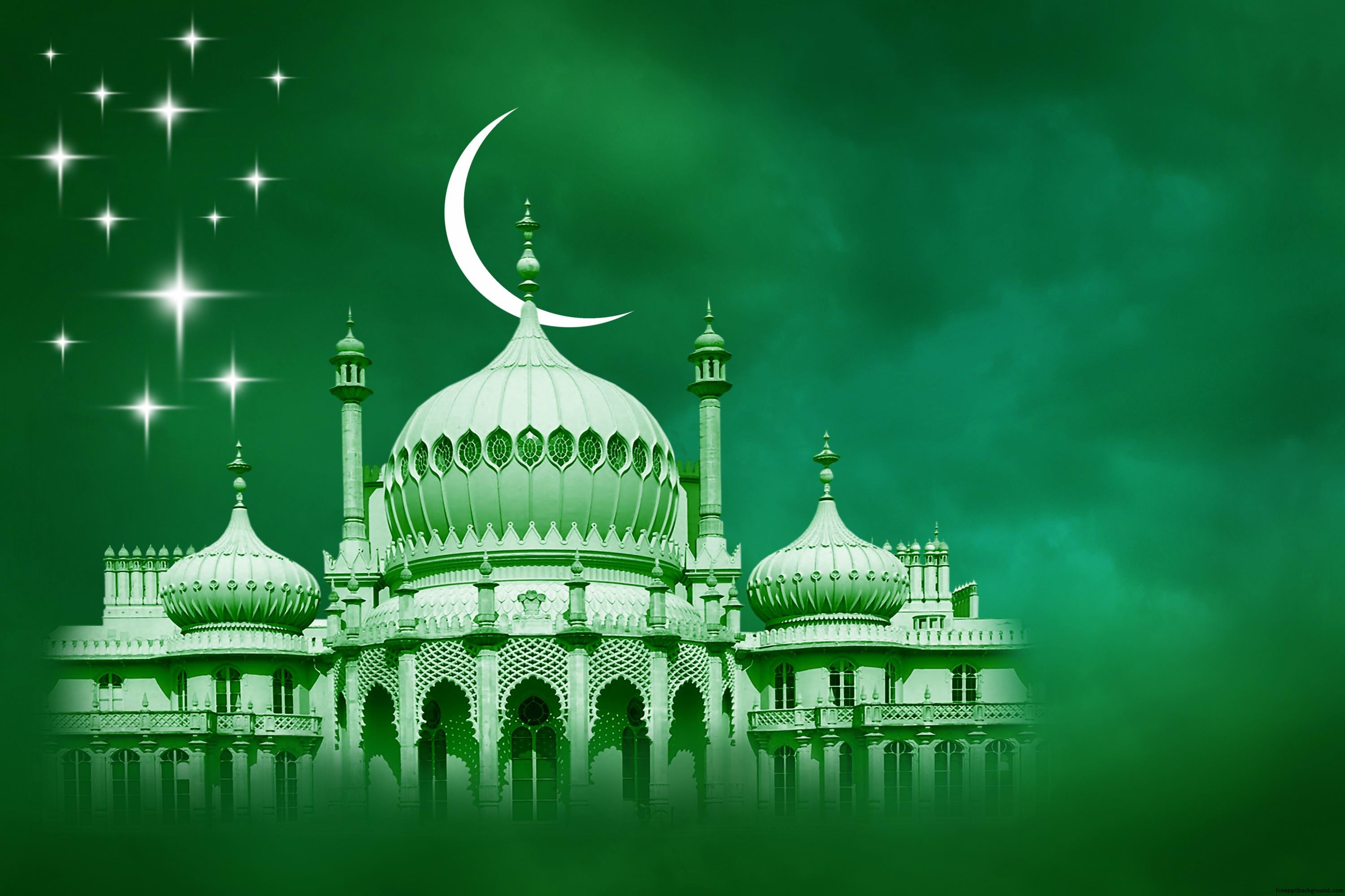 green islamic free ppt