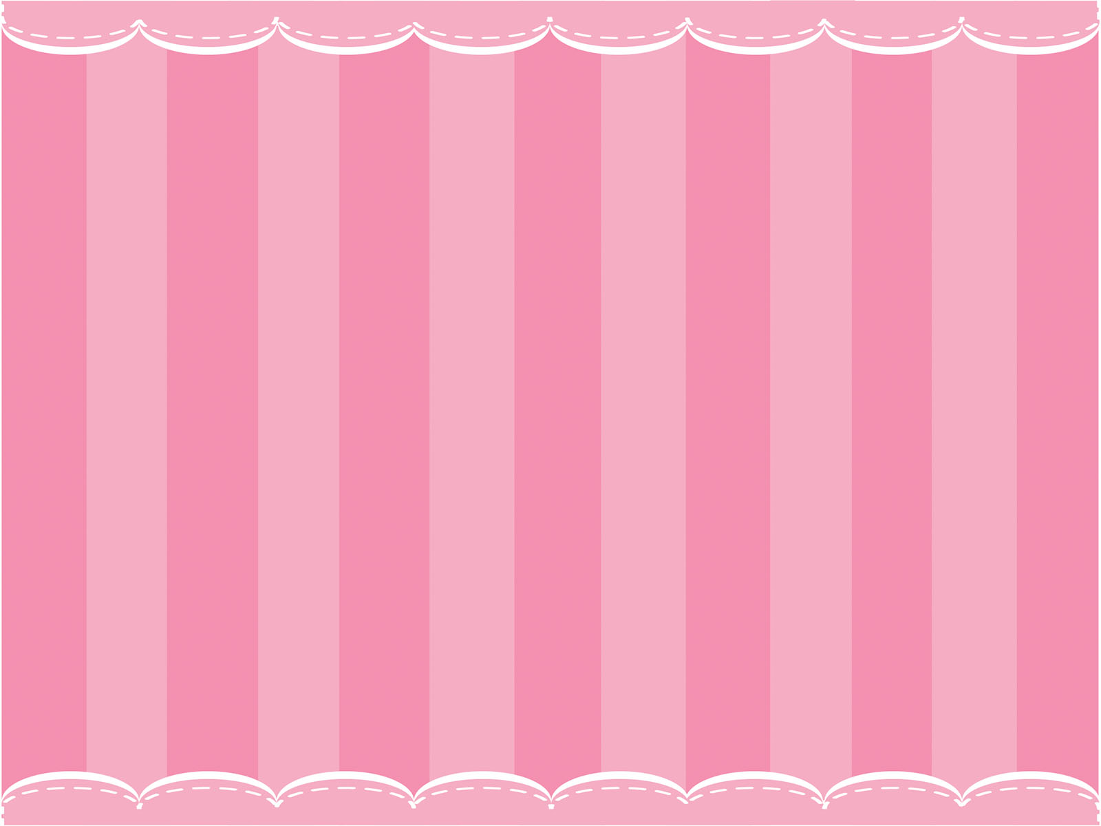 Cute Pink Curtain Powerpoint Templates