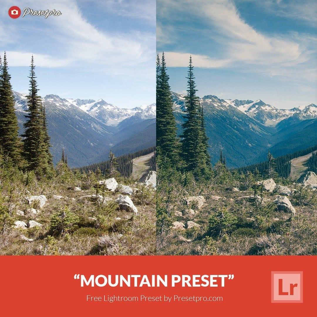 free lightroom preset mountain