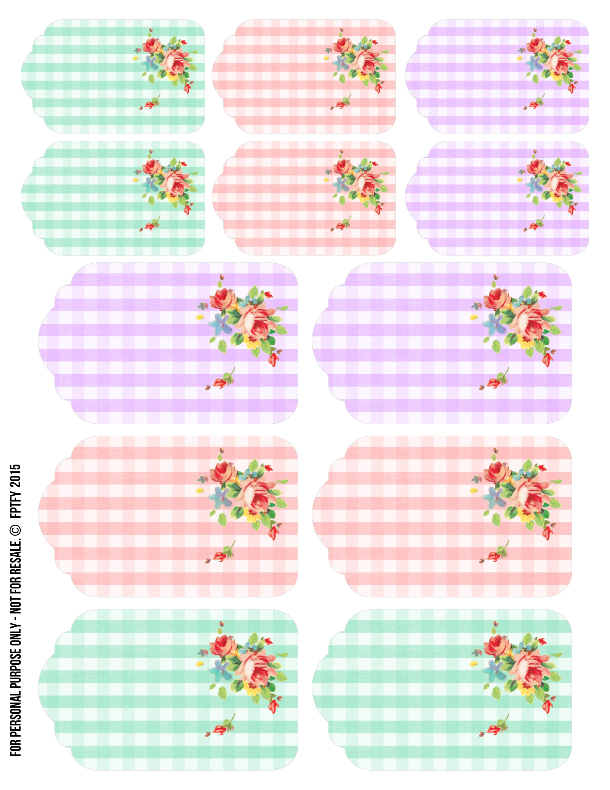 T Tags Gingham Spring Printables