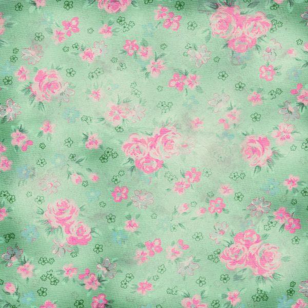 Free Digital Scrapbooking Paper- Floral Love - Pretty