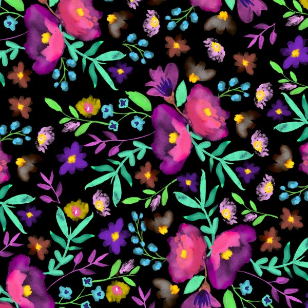 Scrapbook Paper - Pretty Florals 12x12-multicolors Free