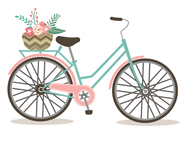 free romantic bicycle clip art