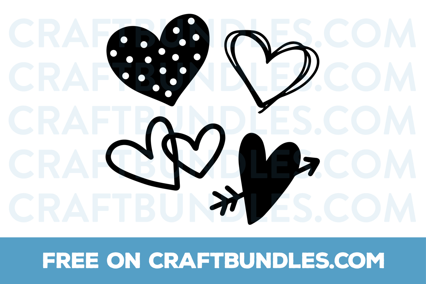 free doodle hearts free