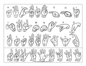 New Sign Language Printables Site