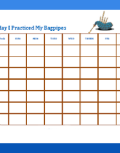 Free printable instrument practice charts behavior chart for practicing instruments also rh freeprintablebehaviorcharts