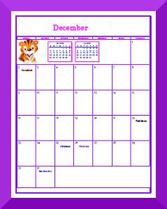 printable calendar pages for