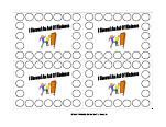 Printable Behavior Punch Cards