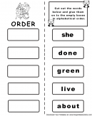 Word Match The Letter B Worksheets
