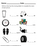 Name and Match Shapes Worksheets